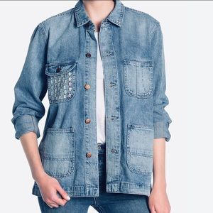 Embroidered Denim Chore Coat by Madewell
